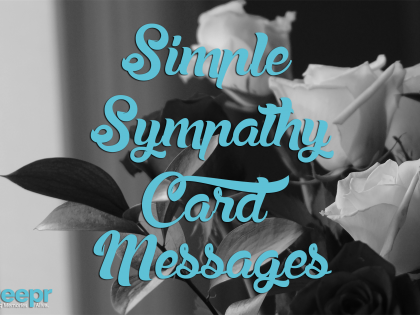Simple Sympathy Card Messages