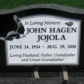 Large Upright Headstone in Black
