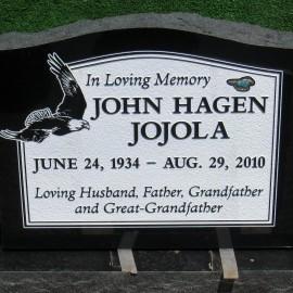 Large Upright Headstone in Black